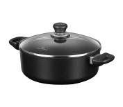 Scanpan Induction Plus Non-Stick Low Dutch Oven with Lid, 3.5l, Black