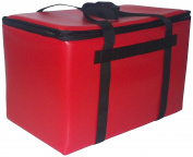 TCB Insulated Bags DST-1-Red Insulated Catering Bag for Steam Table Pans, Holds 3 10cm or 2 15cm Pans, 41cm x 60cm x 36cm , Red