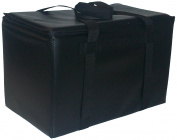 TCB Insulated Bags DST-3-Black Insulated Catering Bag for Steam Table Pans, Holds 4 10cm Pans, 41cm x 60cm x 45cm , Black
