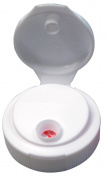 Mann Lake CN170 250-Pack Squeeze Container Flip Top Caps, White