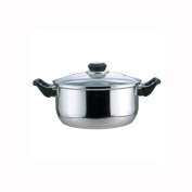 Culinary Edge 01004 Dutch Oven with Glass Cover, 3.8l