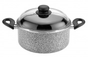 Caroni A300424 De Luxe Dutch-Oven with Glass Lid, 2 24cm