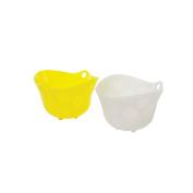 Casabella Poach and Serve Egg Poacher, 150ml, Yellow and White, Set of 2