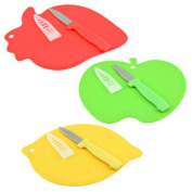 Fruit-shaped Mini Cutting Boards with Paring Knives, 3-set