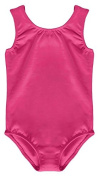 GIRL'S HOT PINK COTTON STRETCHY SLEEVELESS LEOTARDS DANCE / GYM / BALLET / SPORTS - LOTS COLOUR & SIZES ...