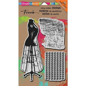 """Stampendous """"Dress Form"""" Jumbo Cling Rubber Stamp"""