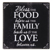 Brownlow Kitchen Tempered Glass Cutting Board with Scripture, Bless The Food