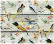 Magic Slice Non-Slip Flexible Gourmet 30cm x 38cm Fishing Lures Cutting Board by Giordano Studios, Multicolor