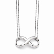 Best Designer Jewellery Stainless Steel Polished Two Strand Infinity Symbol Necklace
