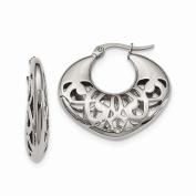 Jewellery Best Seller Stainless Steel 30mm Fancy Cutout Hoop Earrings