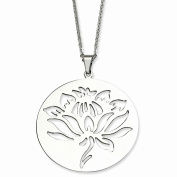 Perfect Jewellery Gift Stainless Steel Flower Cutout Pendant Necklace