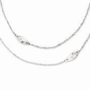 Top 10 Jewellery Gift Stainless Steel Multi Chain w/Polished Swirls 60cm Layered Necklace