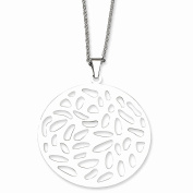 Best Birthday Gift Stainless Steel Fancy Cutout Pendant Necklace