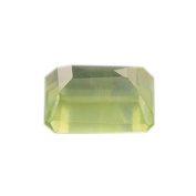 AA+ Green Prehnite Octagon Faceted .  Lot 2.60 ct 9x7x4.7 mm