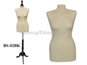 Female Dress Forms ROXYDISPLAY™ New White Female Body Solid Form Size 6-8 Medium With Wooden Base