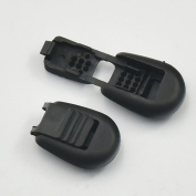 100 Pcs Cord End Lock Zipper Clip Pull Black Zip for Buckles Lanyard Paracord Plastic 4 Style Choice