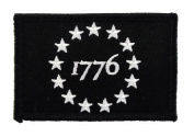 1776 Patriot Tactical Hook and loop Fully Embroidered Morale Tags Patch