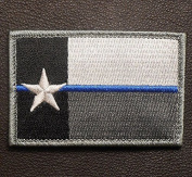 Kaben Texas State Flag Thin Blue Line Cop Police Law Enforcement Swat Hook and loop Patch ,1pcs