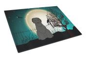 Caroline's Treasures BB2271LCB Halloween Scary Briard Black Glass Cutting Board, Large, Multicolor