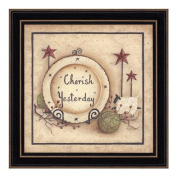 The Craft Room Mary 265-405 Cherish Yesterday, Country Inspirational Shaker Framed Print by Mary June, 30cm x 30cm