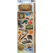 Paper House Productions STCX-0194E Cardstock Stickers, Duck Hunting