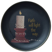 CWI Gifts Faith Will Light The Way Wood Display Plate, 29cm