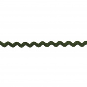 Rick Rack 5mm Wide Polyester Roll for Arts and Crafts, 25-Yard, Olive
