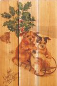 Gizaun Art Sleigh Dogs Yard Art, 41cm by 60cm