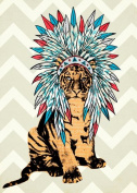 Wheatpaste Art Collective Ceremonial Tiger by WP House Canvas Wall Art, 25cm by 36cm