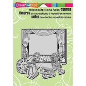 Stampendous Cling Rubber Stamp, 14cm by 11cm , Reel Movie