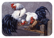 "Caroline's Treasures BDBA0208LCB ""Roosters Roosting"" Glass Cutting Board, Large, Multicolor"