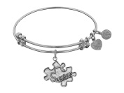 "Angelica Antique Smooth Finish Brass Generation Rescue ""autism"" Expandable Bangle"