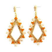 Jewelry11 Gold-Tone Metal Colourful Crystal Earrings Gift For Her