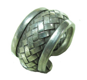 Thai Karen Hill Tribe Woven Silver Ring unique handmade hill tribe