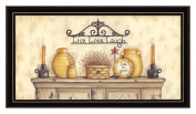 The Craft Room Mary 322-782 Live, Love, Laugh, Inspirational Shaker Framed Print by Mary June, 60cm x 30cm