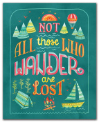 Studio Oh! Art Print, Not All Who Wander Are Lost