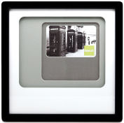 nexxt Trio Picture Frame, 30cm by 30cm , Matted For 10cm by 15cm Photo, Black Frame with Neutral Colour Mat