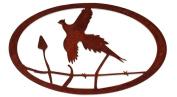 7055 Pheasant Oval in Metal Wall Art, Rust