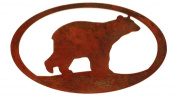 7055 Bear Oval in Metal Wall Art, Rust