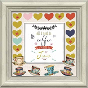 Carpentree All I Need is Coffee Framed Artwork, 8.5 x 22cm x 4.6cm