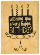 Hampton Art Hot Fudge Birthday Wood Rubber Stamp