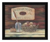 The Craft Room BR210-276 Handmade Soaps, Hardwood Framed and Textured Wall Art