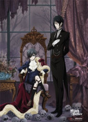 Great Eastern Black Butler Ciel with Cloak Fabric Poster