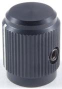 NTE Electronics 504-0012 Series DD Machined Aluminium Knob with Position Line, Matte Finish, 2.3cm Diameter, 0.6cm Shaft Diameter, Black