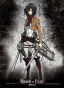 Great Eastern Attack on Titan Mikasa Fabric Poster