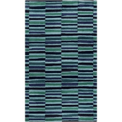 0.8m x 2.4m Gridded Lines with Different Accents of Blue and Green