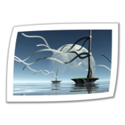 Art Wall Ribbons 60cm by 90cm Unwrapped Canvas Art by Cynthia Decker with 5.1cm Accent Border