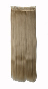 FIRSTLIKE 70cm Inch Straight Ash Blonde Clip In Hair Extensions Thick 3/4 Full Head Long One Piece 5 clips Soft Women Beauty Hairpiece