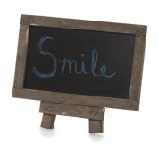 The Lucky Clover Trading Wooden Chalkboard with Easel, Mini, Rustic Brown