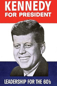 """Buyenlarge 0-587-28490-0-P1218 """"Kennedy for President"""" Paper Poster, 30cm x 46cm"""